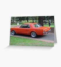Orange Vintage Car. Greeting Card
