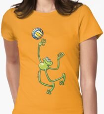 Volleyball Frog Women's Fitted T-Shirt