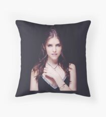 Anna Kendrick Cannes Throw Pillow