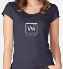 dubium (white) Women's Fitted Scoop T-Shirt