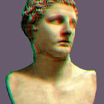 Vaporwave Roman Bust by pkbrendan