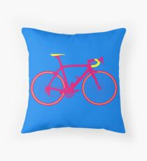 Bike Pop Art (Pink & Yellow) Throw Pillow