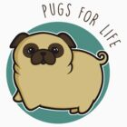 Pugs for life - fawn by perdita00
