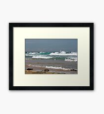 Raw Energy - Newcastle Beach Framed Print