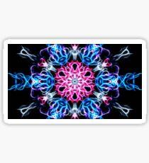 Galactic flame art, mandala, cosmic, space, neon, galaxy, nebula, fractal, artwork Sticker