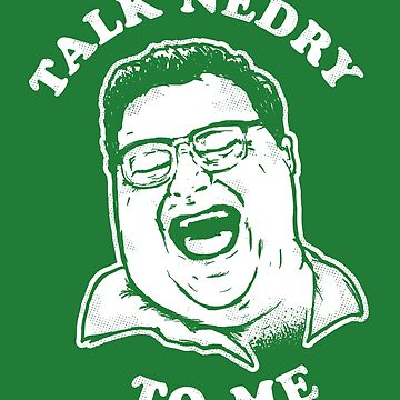 Talk Nedry To Me T-Shirt - Dennis Nedry  by Tabner