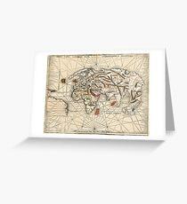 1513 World map by Martin Waldseemüller Greeting Card