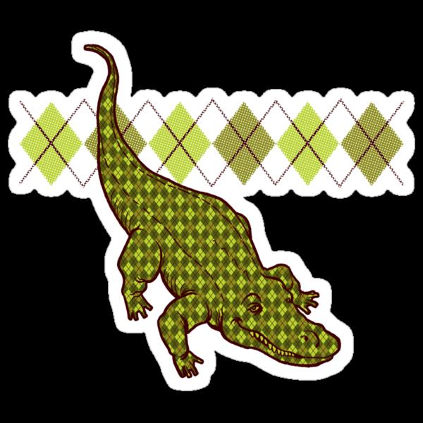 Artie the Argyle Alligator by drawsgood