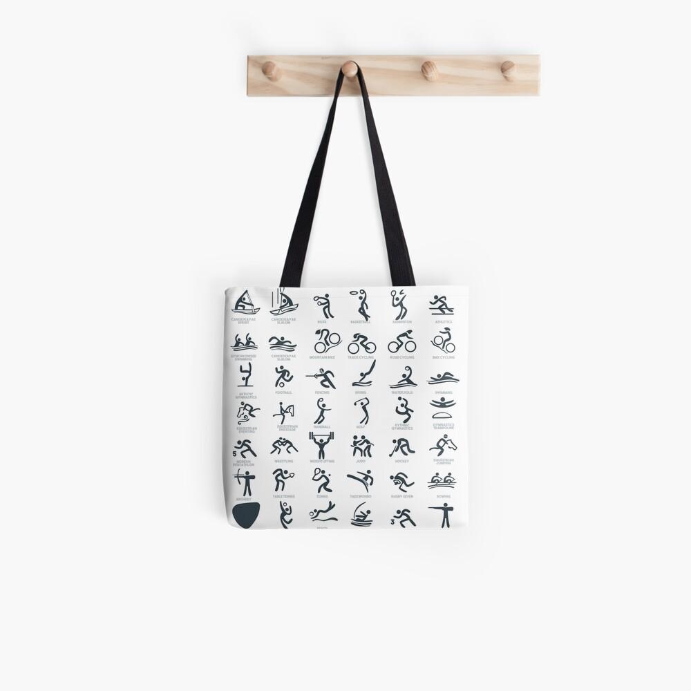 Olympia-Symbol Piktogramme Tote Bag