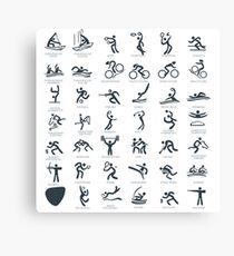Olympics Icon Pictograms  Canvas Print