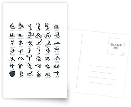 Olympia-Symbol Piktogramme von aurielaki