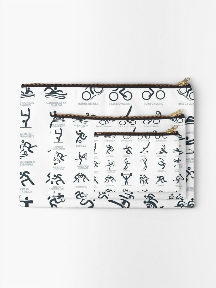 Alternative Ansicht von Olympia-Symbol Piktogramme Täschchen