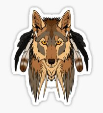 Tribal Coyote Sticker