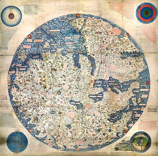 1458 World Map by Fra Mauro by paulrommer
