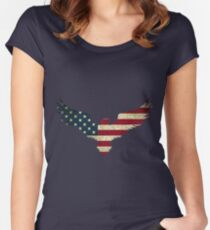 Bald Eagle- America Women's Fitted Scoop T-Shirt
