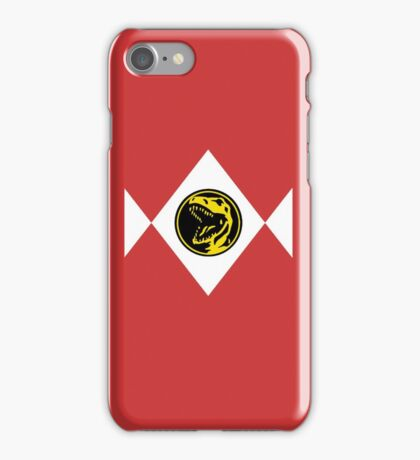 Mighty Morphin Power Rangers Red Ranger 2 iPhone Case/Skin