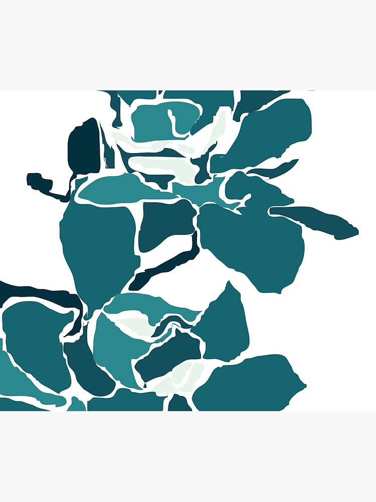 Orchards 2 in Teal by naomicrain