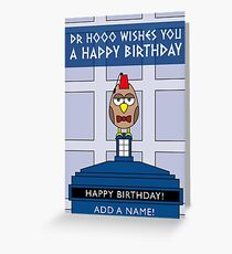 DOCTOR WHO MATT SMITH OWL CARD (ADD A NAME) Greeting Card