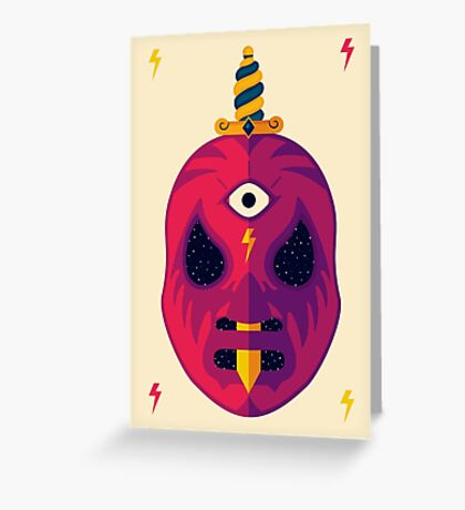 LUCHADOR COSMICO Greeting Card