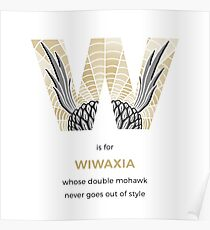 W is for Wiwaxia Poster