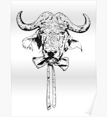 Buffalo - Fineliner Illustration Poster