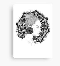 Eva - Fineliner Illustration Canvas Print
