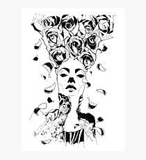Florist - Fineliner Illustration Photographic Print