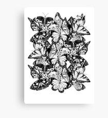 Flutter - Fineliner Illustration Canvas Print