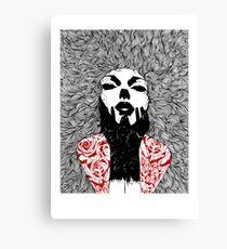 Grace - Fineliner Illustration Canvas Print