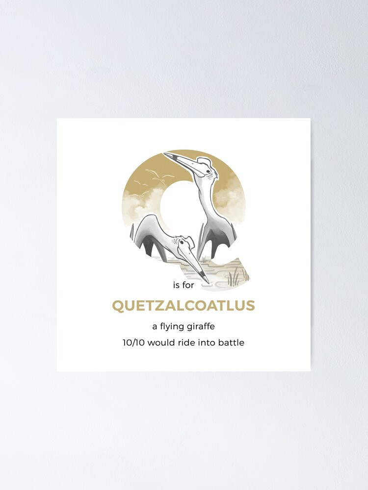 Alternate view of Q is for Quetzalcoatlus Poster