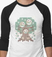 Wood Owl Woods Men's Baseball ¾ T-Shirt