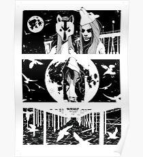 Midnight Masquerade - Fineliner Illustration Poster