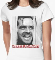 HERE'S JOHNNY Women's Fitted T-Shirt