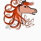 Horse Profile Brown by AngelArtiste