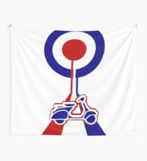 Retro Mod target and scooter Art Wall Tapestry
