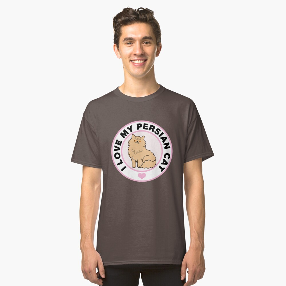 Persian Cat Lover T-Shirts Classic T-Shirt Front