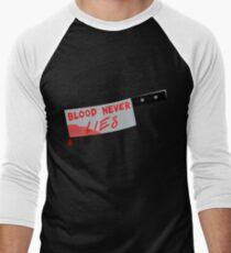 Blood Never Lies (Dexter art) Men's Baseball ¾ T-Shirt