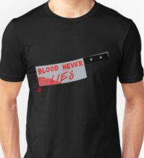 Blood Never Lies (Dexter art) Unisex T-Shirt