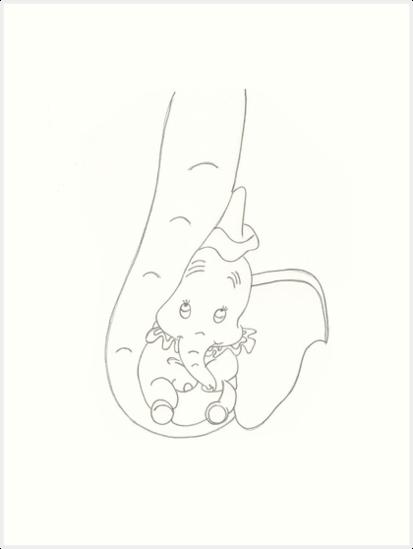 Láminas artísticas «Dumbo en el baúl de su madre» de BURNING-BRIGHT ...