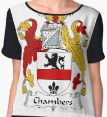 Chambers Coat of Arms / Chambers Family Crest Chiffon Top