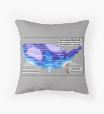 Emotional Weather Report Throw Pillow