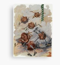 John R. Neill - Personified Muffins Tumbling Out Of Steam. Child portrait: cute baby, kid, children, pretty angel, child, kids, lovely family, boys and girls, boy and girl, mom mammy mam, childhood Canvas Print