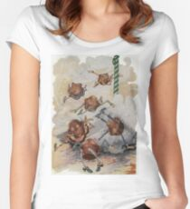 John R. Neill - Personified Muffins Tumbling Out Of Steam. Child portrait: cute baby, kid, children, pretty angel, child, kids, lovely family, boys and girls, boy and girl, mom mammy mam, childhood Women's Fitted Scoop T-Shirt