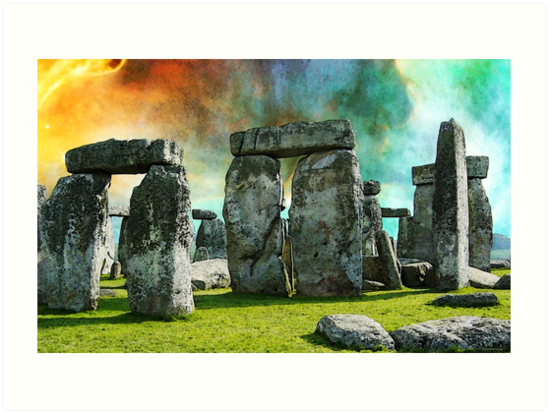 Building A Mystery - Stonehenge Art By Sharon Cummings by Sharon Cummings
