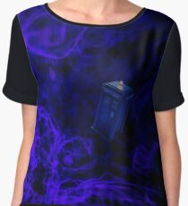 Tardis in Space Women's Chiffon Top