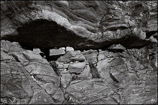 Rockform at Livermore Falls by Wayne King