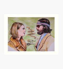 Margot and Richie Royal Tenenbaums Watercolor Art Print