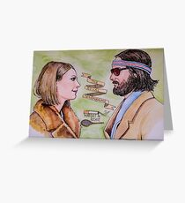 Margot and Richie Royal Tenenbaums Watercolor Greeting Card