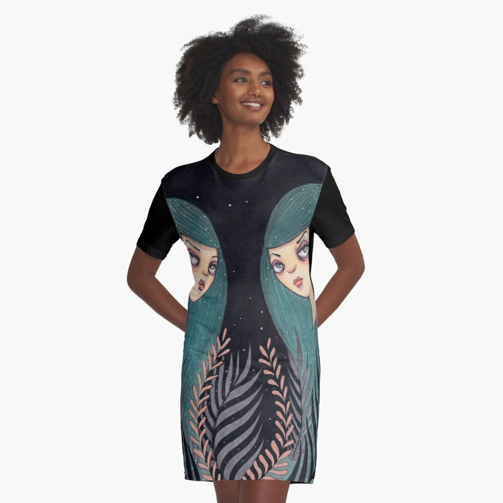 The Twins Graphic T-Shirt Dress