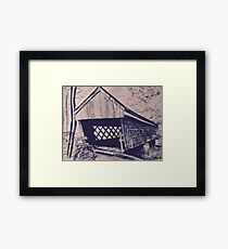 Pen Sketch of a Covered Bridge Framed Print